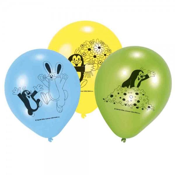 Bunte Luftballons für den Kindergeburtstag Der kleine Maulwurf