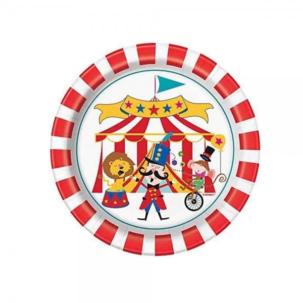 Zirkusteller für den Zirkusgeburtstag