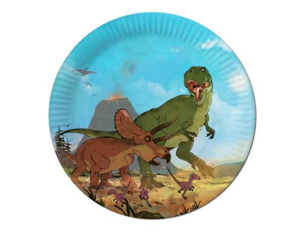 Dino-Kampf Teller