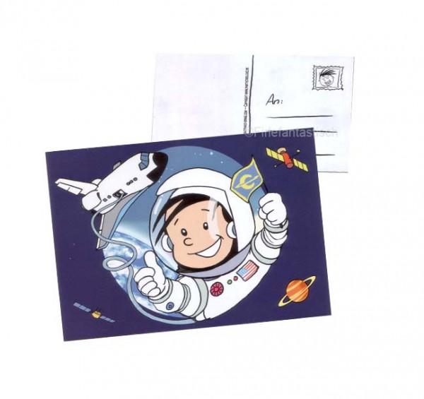 Einladungskarte Astronaut Flo