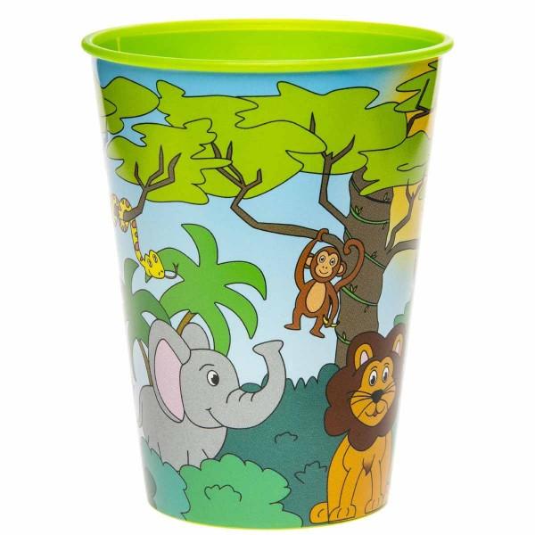 Kunststoffbecher Dschungel 1 Stück