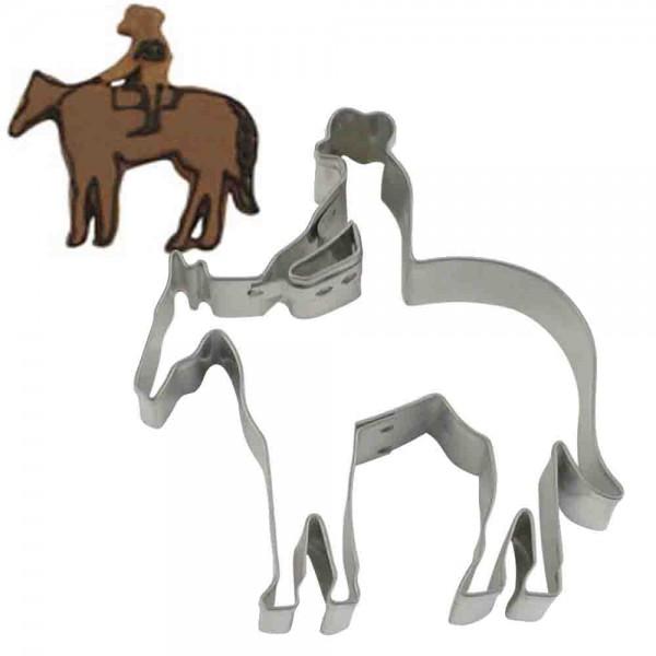 Keksausstecher Reiter mit Pferd