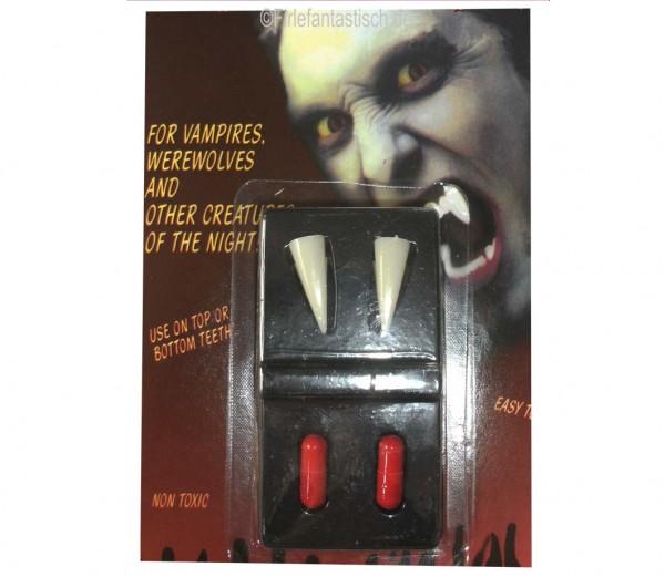 Vampirzähne mit Blutkapseln