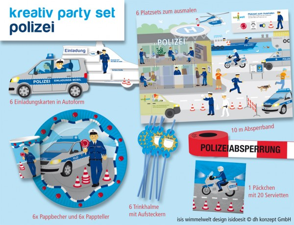 Polizeiparty-Set-M