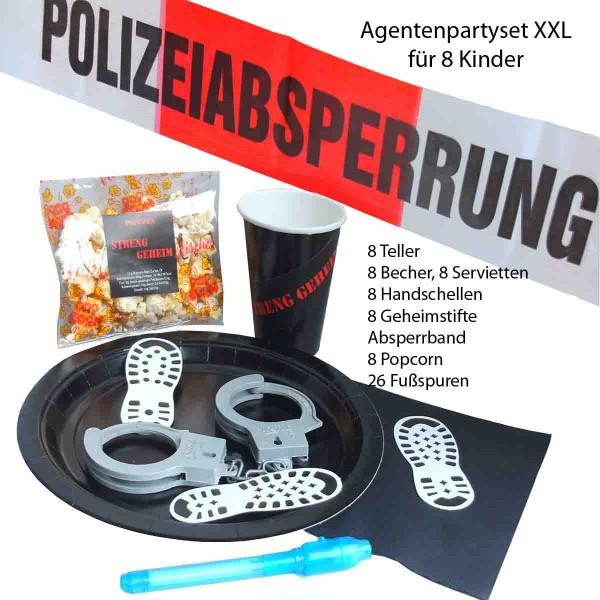 XXL Partyset für eine coole Agentenparty