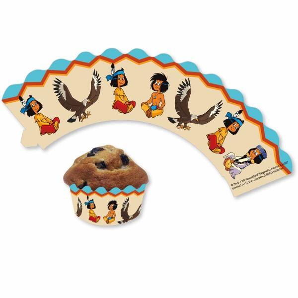 Indianer Cupcake-Banderolen zum Thema Yakari