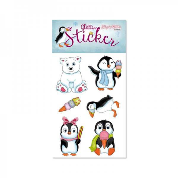 Glitter-Sticker Pinguin