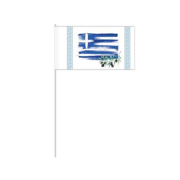Packung mit 10 Papierfahnen Griechenland
