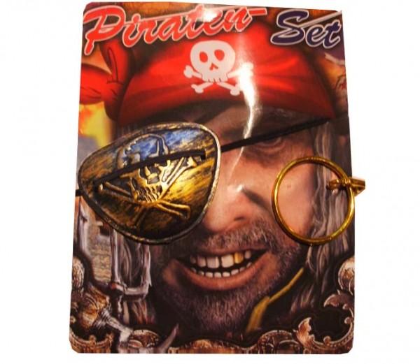 Piraten-Augenklappen Set