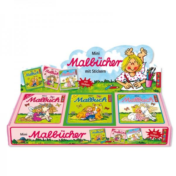 Mini-Malbuch mit Stickern Mädchen