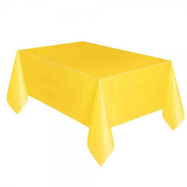 Kunststoff-Tischdecke Gelb