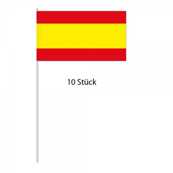 Papierflaggen Spanien 10 Stück