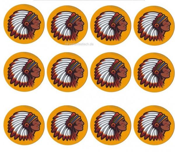 Muffinaufleger Indianer 12Stück