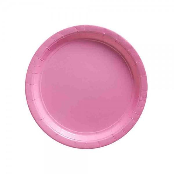 Stabile einfarbige Teller in Rosa, idel für z.B. Kindergeburtstag Prinzessin