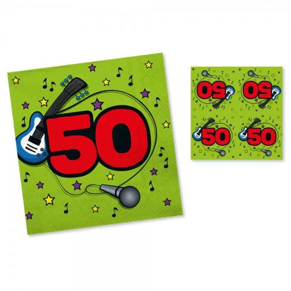 Servietten Rockparty 50