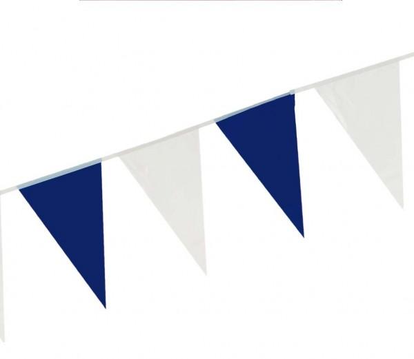 Wimpelkette Blau/Weiß