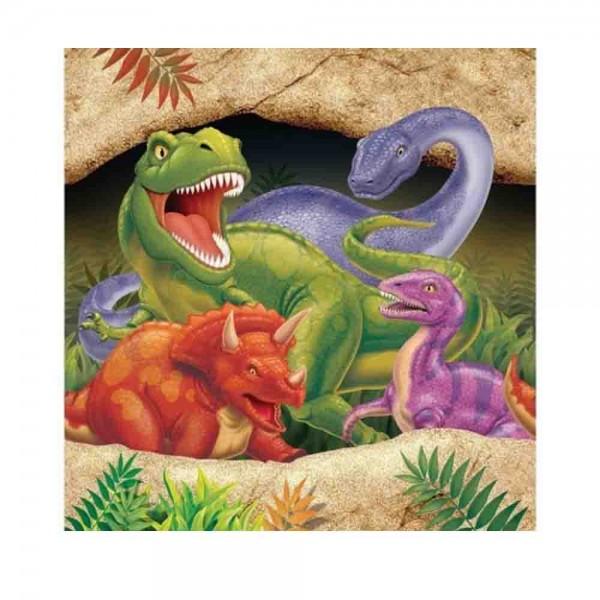 Dino-AlarmServietten groß