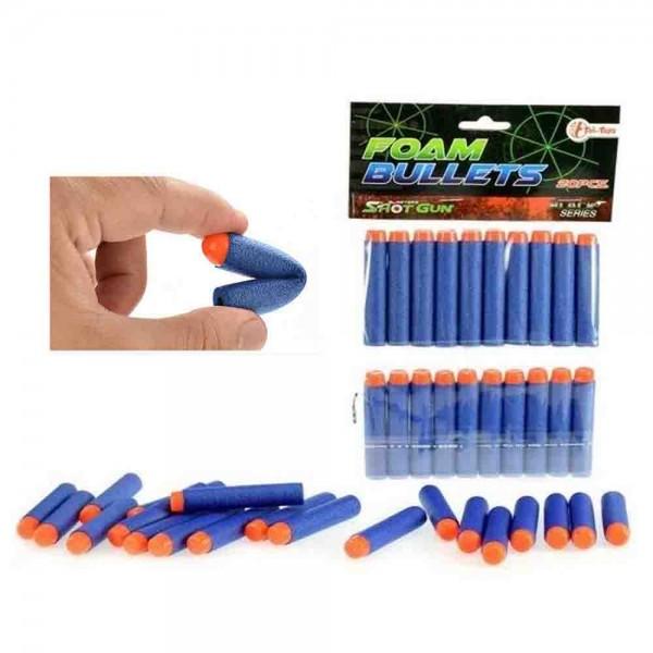 Nachfüllpatronen für Schaumstoffpistolen.