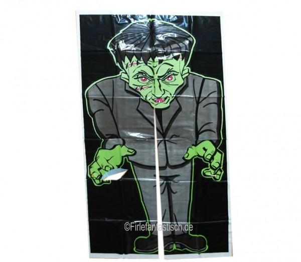 Folien-Türdurchgang grünes Monster