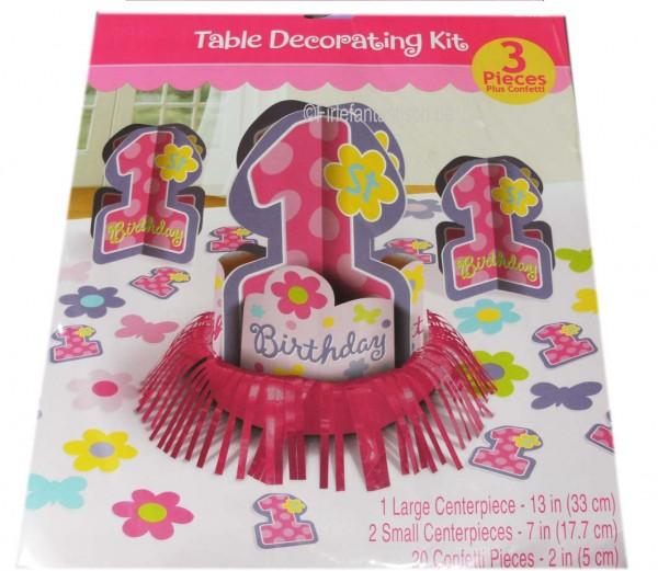 Mädchen-Tischdeko 1.Geburts.