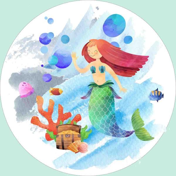 Essbarer Tortenaufleger Meerjungfrau