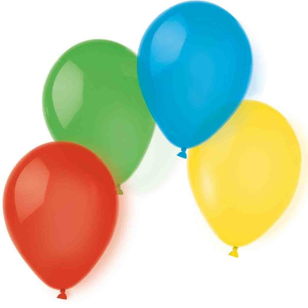 100 Ballons für eine fröhliche Dekoration