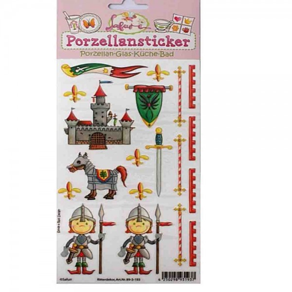 Porzellan-Sticker Ritter