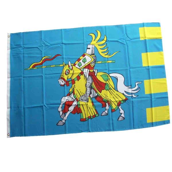 Große Ritterflagge zum Aufhängen in Blau