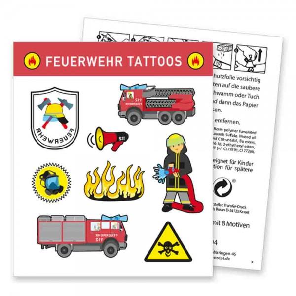 Tolle Feuerwehr Tattoos auf der Feuerwehrparty