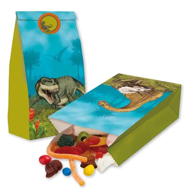 Dinosauriertüten mit Verschlussstickern