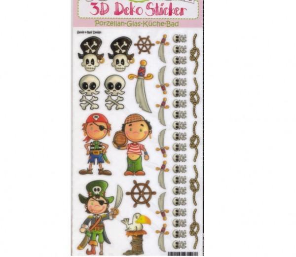 Porzellan-Sticker Piraten