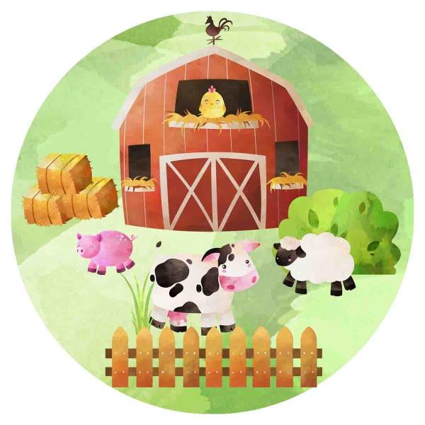Essbarer Tortenaufleger fpr die Bauernhofparty