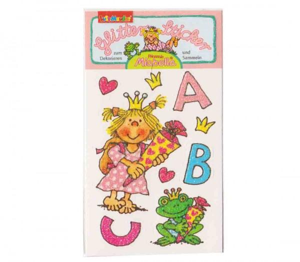 Glitter-Sticker Einschulung Prinzessin