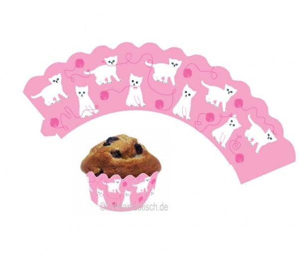 Cupcake Banderolen Katzen 12St.