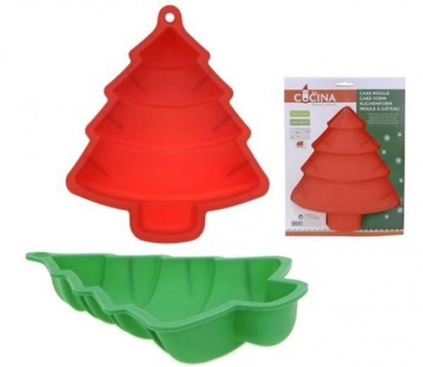 Silikon-Kuchenform Tannenbaum Grün