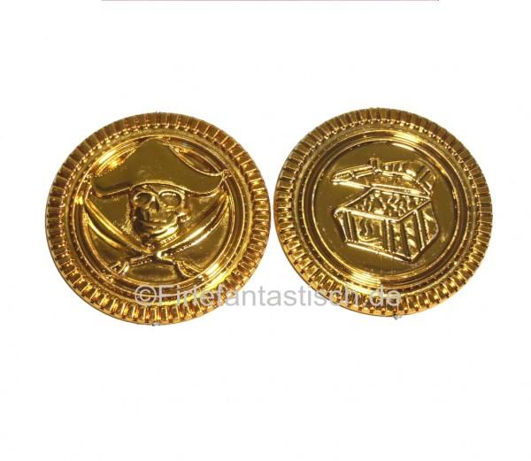 Piratenschatz-Münzen 36St. im Samtbeutel