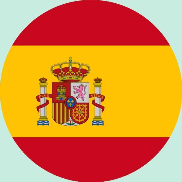 Essbarer Aufleger für die Spanien Party