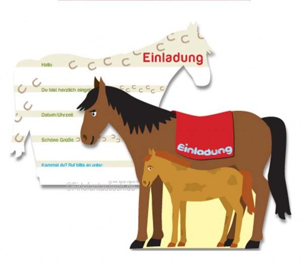 Pferde-Einladungen als Pferd 6St