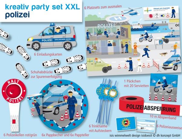 Polizeipartyset für den Kindergeburtstag