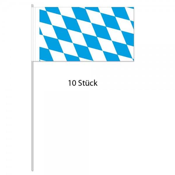 Papierflaggen Bayern 10 Stück