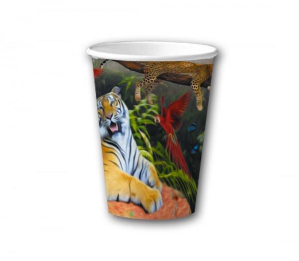 Dschungel-Becher 8 Stück