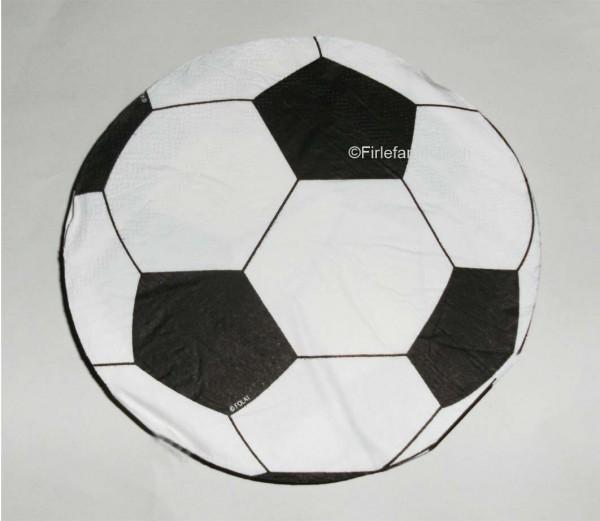 Nicht nur der Ball ist rund. RUnde Fußballservietten