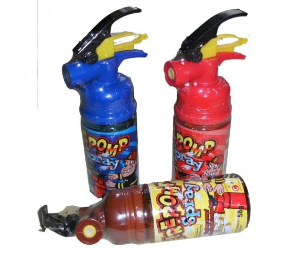 Süßer Feuerlöscher-Spray