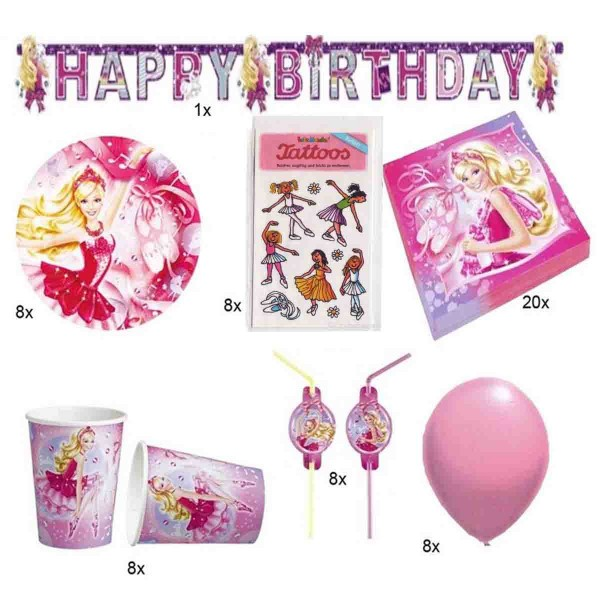 Partyset Ballett-Barbie 61tlg