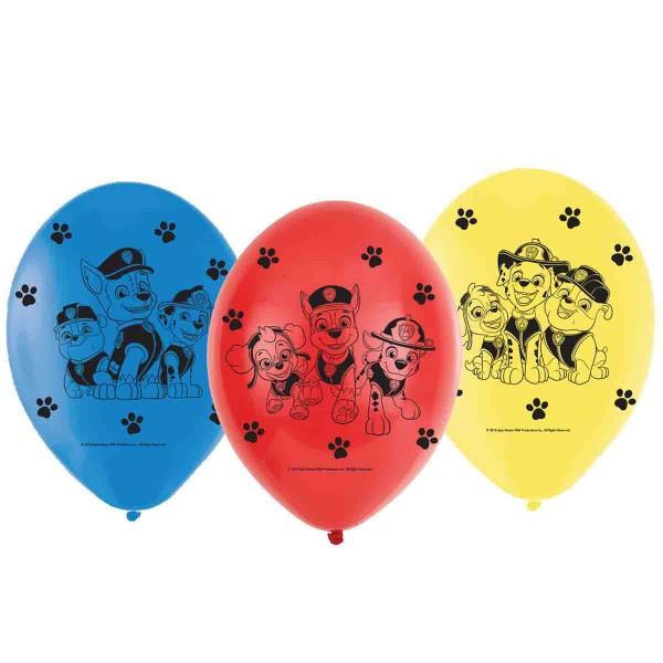 Luftballons für die Dekoration auf der Paw Patrol Party
