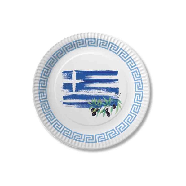 Packung mit 10 Griechenland Tellern