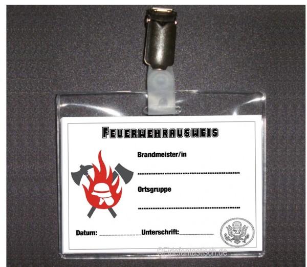 Feuerwehrausweis-Set mit Clip 4St.