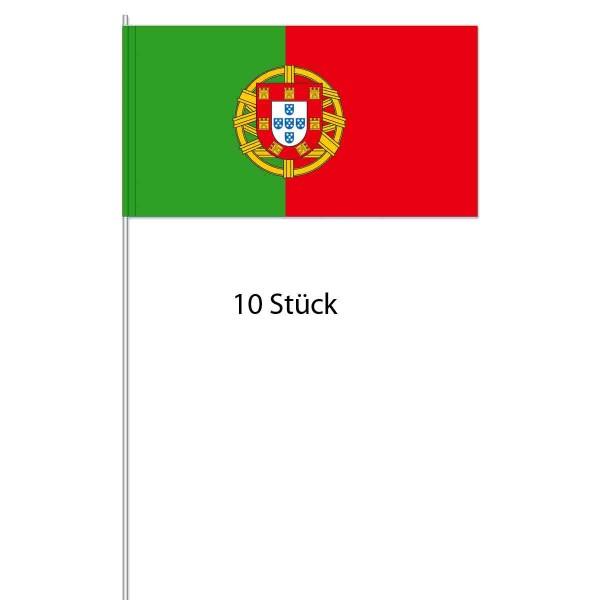 Packung mit 10 Papierfahnen Portugal
