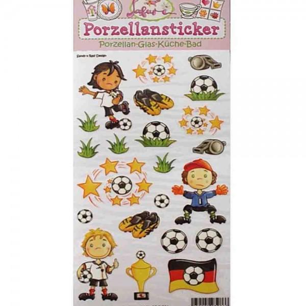 Porzellan-Sticker Fußball