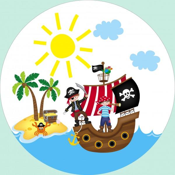Essbarer Tortenaufleger Piratenschiff